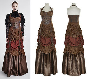steampunk punk rave kleid victorian korsage dress gothic vintage spitze q295 ebay. Black Bedroom Furniture Sets. Home Design Ideas