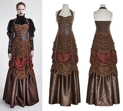 Steampunk Punk Rave Kleid Victorian Korsage Dress Gothic Vintage Spitze  Q295
