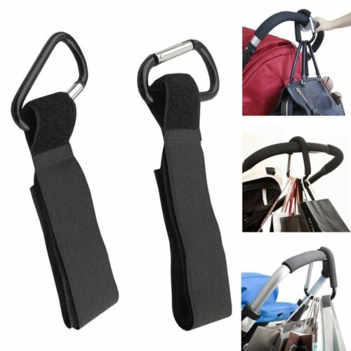 2pcs Baby Pushchair Pram Stroller Buggy Hanger Trolley Carabiner Clip Hooks Hot