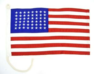 Vintage-Stitched-48-Star-American-Flag-US-WW2-Vehicle-Cotton-Flags-Military-Jeep