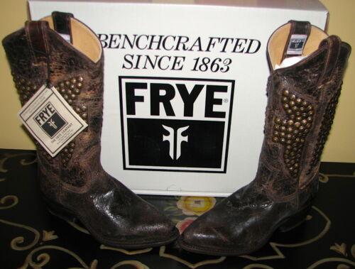 Womens 378 Frye laarzen leren Nib Hammered 5 noodlijdende Stud 00 787936610656 6 Billy Yygbf7vI6