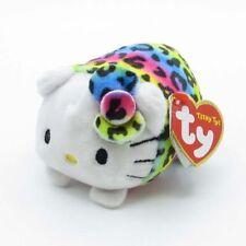 "TY Teeny Tys Hello Kitty Rainbow Beanie Babies 3"" Stuffed Plush Toy Stackable"