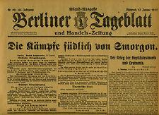 1917 BERLINER TAGEBLATT Die Kämpfe südlich von Smorgon : German WWI History News