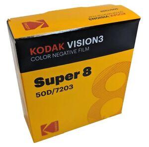 KODAK-Super-8-50D-7203-VISION-3-COLOR-Negative-BRAND-NEW-FACTORY-FRESH