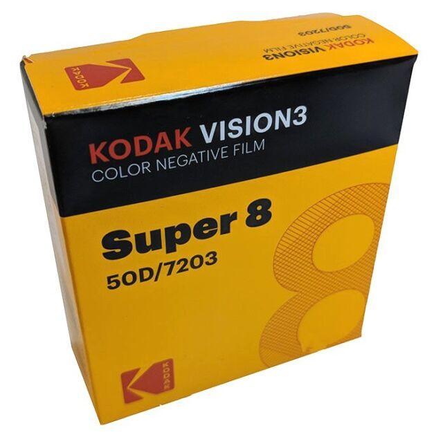 Kodak Super 8 50d 7203 Vision 3 Color Negative Brand New Factory Fresh