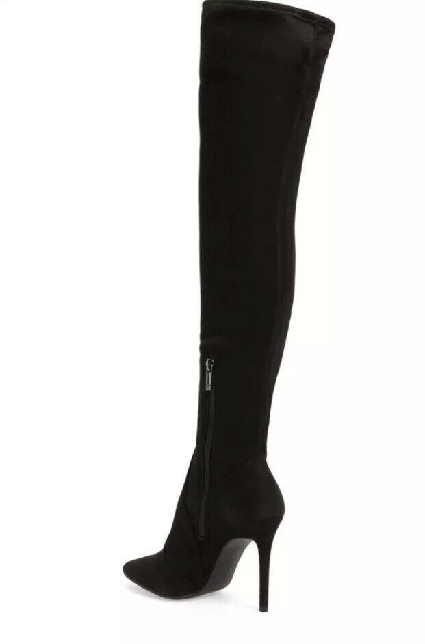 NEW Jessica Simpson Women's Loring Stretch Over The Knee Boots Heels Black sz 7