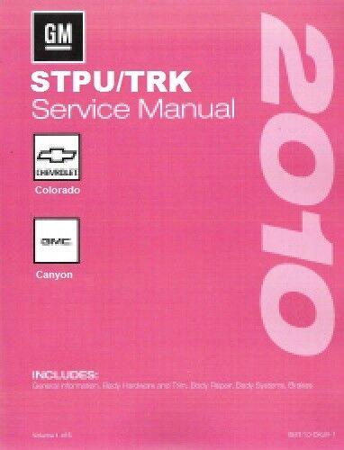 2010 Chevrolet Colorado//GMC Canyon Service Repair Workshop Manual 3-Vol MT10STPU