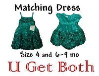 Matching Dress Little Girls Size 4 6-9 Month Holiday Xmas Wedding Kids Youth Lot