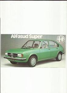 ALFA ROMEO ALFASUD SUPER SALES BROCHURE MIDLATE S EBay - Alfa romeo alfasud for sale