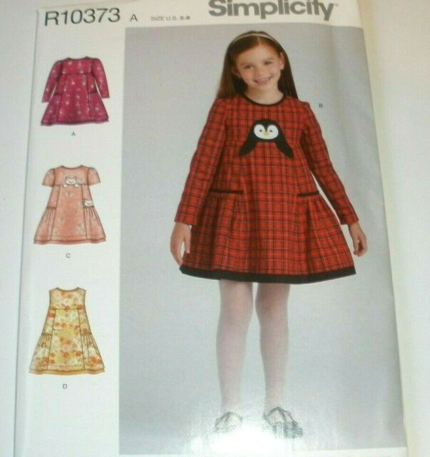 Size A 3-4-5-6-7-8 Simplicity Pattern 8101 Childs Dress and Tunic from Dottie Angel SEWING PATTERN