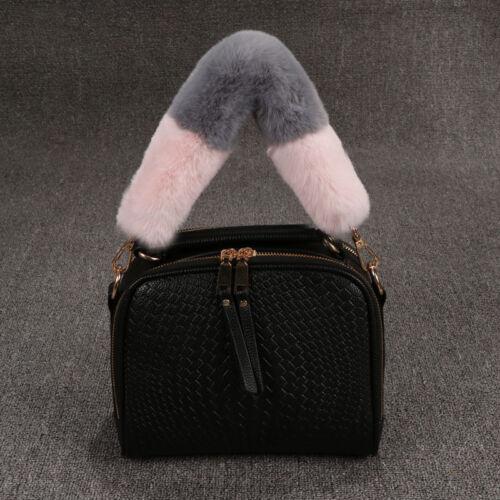 Faux Fur Replacement Handbag Belt Strap Purse Leopard Furry Handle Strap 54cm