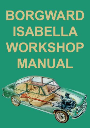 1954-1962 BORGWARD ISABELLA WORKSHOP MANUAL