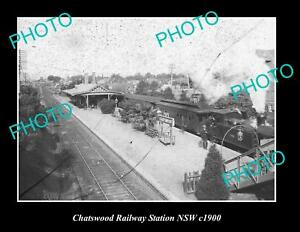 OLD-LARGE-HISTORIC-PHOTO-OF-CHATSWOOD-RAILWAY-STATION-SYDNEY-NSW-c1900