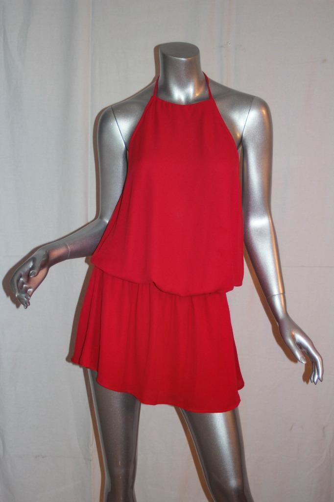Womans SHOW ME YOUR MUMU Bright Rosa Short Halter Dress Größe L