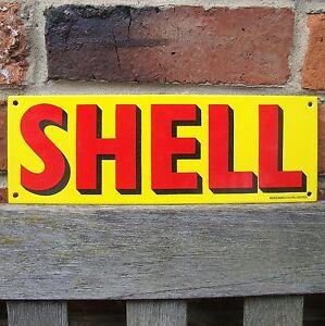 SHELL ENAMEL SIGN logo garage petrol oil vitreous porcelain small VAC188