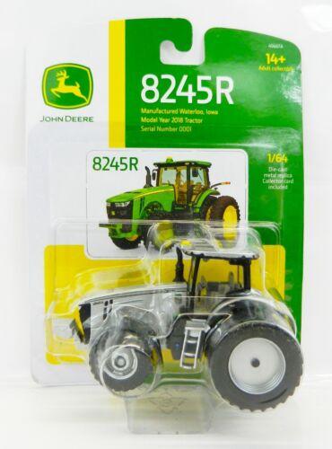 2018 ERTL 1:64 JOHN DEERE Model 8245R SILVER 100 YEARS Tractor w//DUALS *NIP*