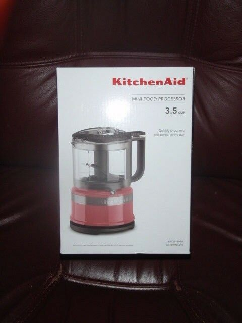 New in Box KitchenAid 3.5 Cup Mini Food Processor Chopper WATERMELON Couleur