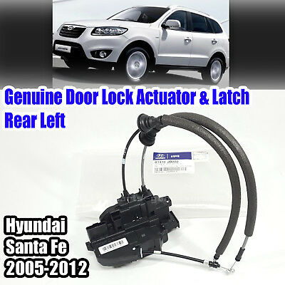 Oem 814102b000 Door Lock Actuator Latch Rear Left Hyundai Santa Fe 06 12 Ebay