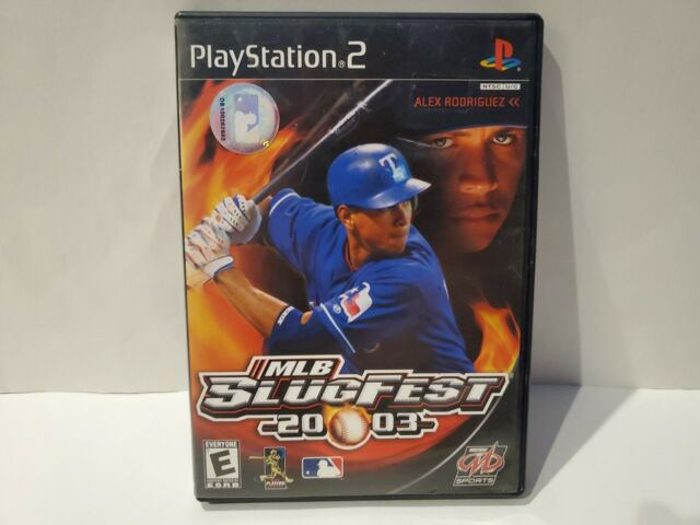MLB SlugFest 2003 (Sony PlayStation 2, 2002) Used In Great Condition