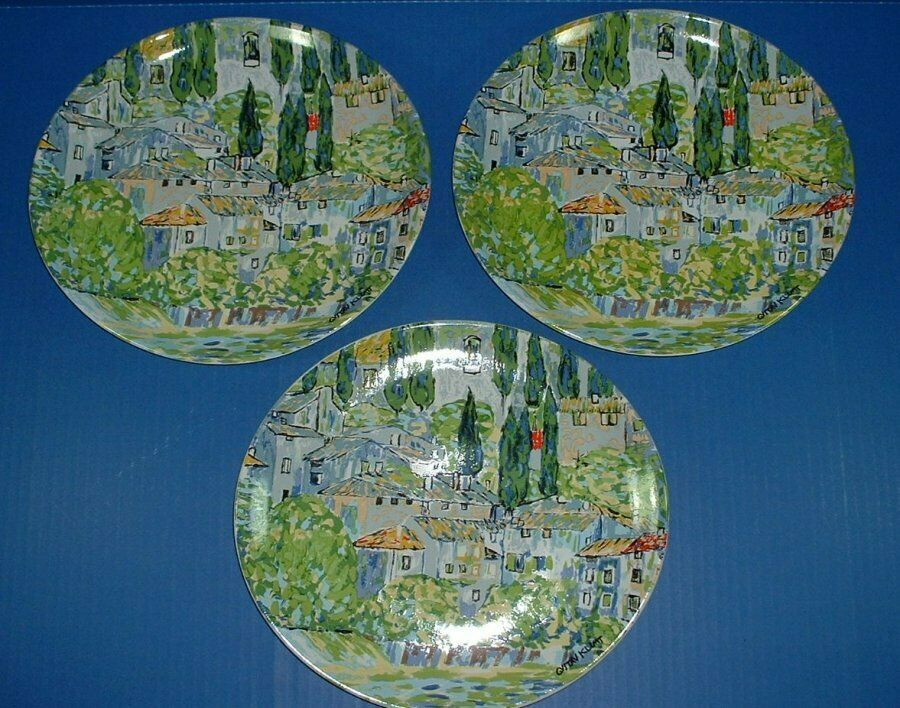 Furio Gustav Klimt 19pc,17pc Dinner Salad Plates Church of Cassone