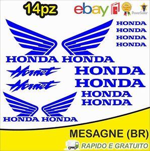 Kit-14pz-adesivi-replica-Honda-Hornet-moto-casco-colore-Blu