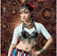 ATS Tribal Style cotton Blouse Top Belly Dance Costumes Practice Dancewear metal