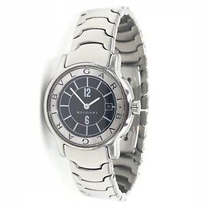 BVLGARI-Solotempo-ST-29-S-Black-Dial-Stainless-Steel-Ladies-Quartz-Watch-D50079
