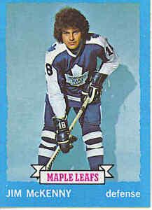JIM-McKENNY-1973-74-Topps-Hockey-Card-NM-MT-39-NHL-Vintage-Toronto-Maple-Leafs