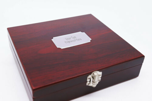 Funnel /& 2 Shot Cup In Wooden Box Engraved Gift Personalised 8oz Hip Flask