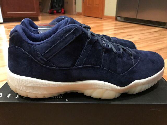 2018 Nike Air Jordan 11 Retro Low Jeter Re2pect Blue Av2187-441 Men Shoes 14 6434d7627