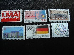 Germany-Rfa-Stamp-Yvert-and-Tellier-N-1291-A-1296-Obl-A3-Stamp-Germany