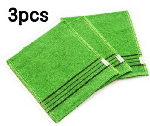 3pcs Korean Exfoliating Body Scrub Towel Bath Washing Cloth