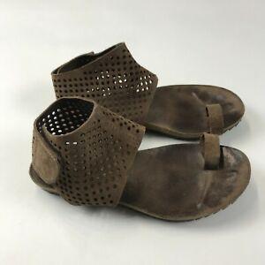 PEDRO GARCIA ESPANA 37 US 7 Venus Suede Gladiator Perfed Toe Ring Sandals $420