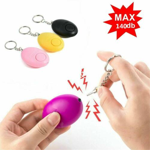 Safe Sound Personal Alarm Keychain Loud Alert LED Light 140db Self-Defense Siren