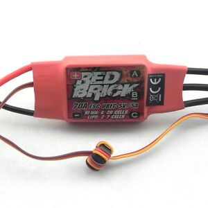 Red-Brick-70A-Brushless-2-7S-ESC-with-5V-5A-UBEC-for-helicopter-Quadcopter-I