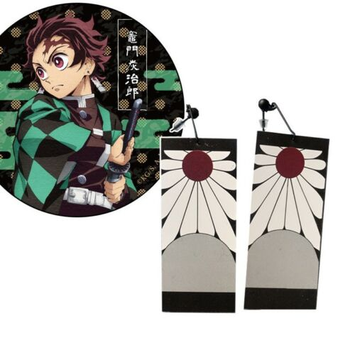 Demon Slayer Kimetsu No Yaiba Tanjirou Kamado 1 Pair Earrings Cosplay Prop