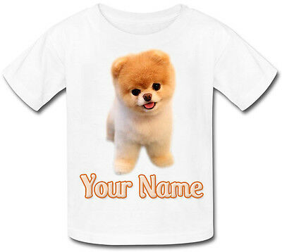 TEACUP POMERANIAN CHILDS PERSONALISED / NAMED KIDS T-SHIRT -GREAT GIFT / PRESENT