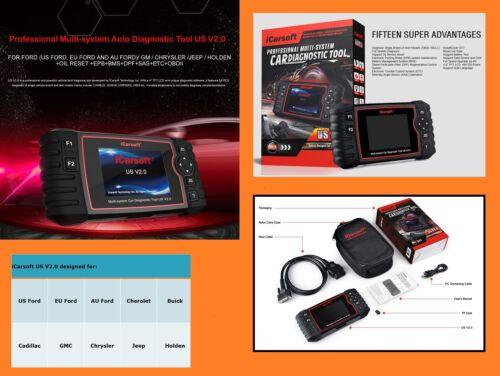 OBD Diagnosegerät iCarsoft US V2.0 für Ford Chrysler GM Chevrolet Jeep Grand Che