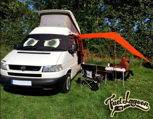 VW Transporter T4 cubierta de la pantalla de ventana Cortina Wrap escarcha negro ojos Ciego