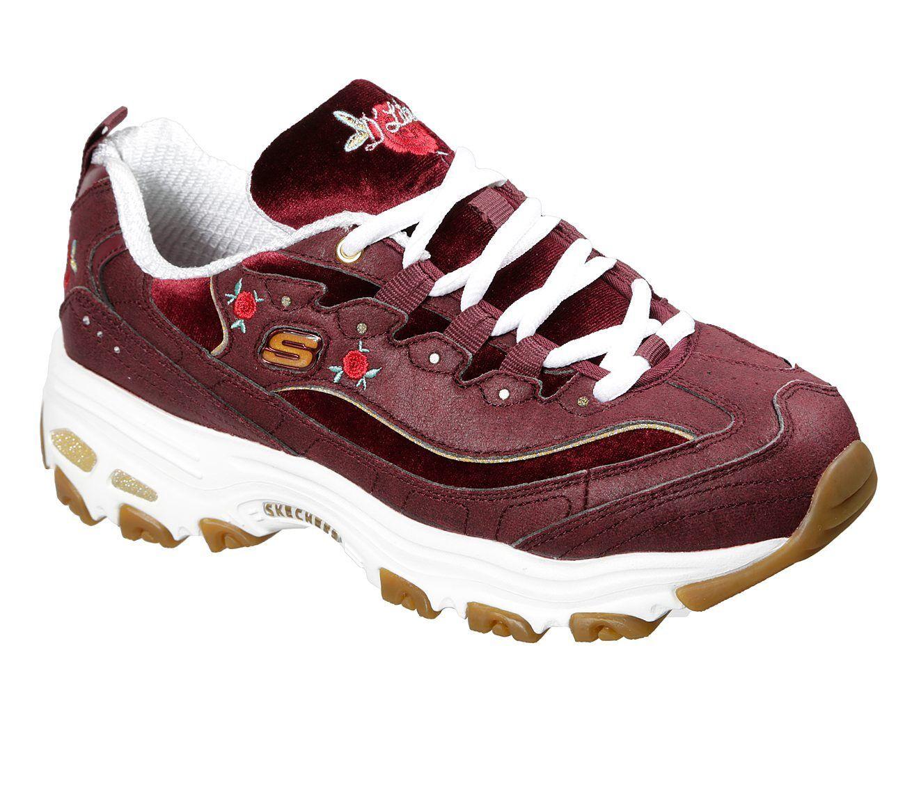 NUOVO Sneakers Skechers da donna Sneakers NUOVO D 'Lites-ROSE BLOOMS ROSSO 8eb249