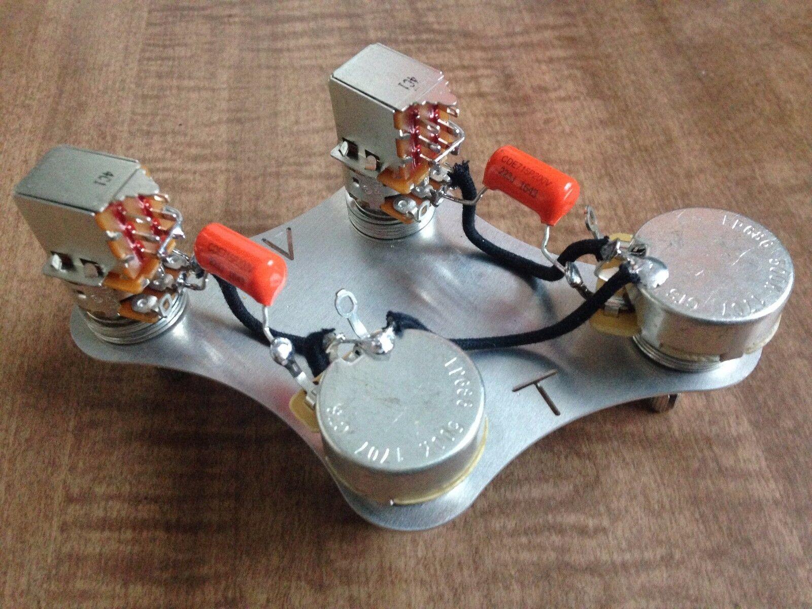 Gibson Les Paul 50's Wiring 500k CTS Push Pull Coil Split SHORT Shaft 022 Orange