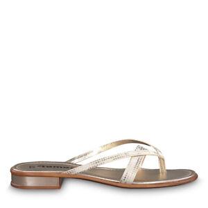 Details zu Tamaris 1 1 27107 20 909 Schuhe Damen Zehentrenner Pantoletten Eva light gold