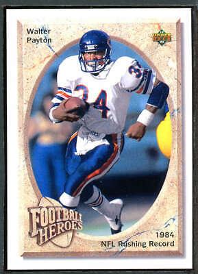 Near Mint//Mint 1992 Upper Deck Football Walter Payton Heroes #19 Walter Payton NM//M