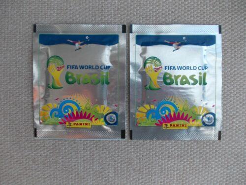 FOOTBALL Autocollants 2 non ouvert les paquets de PANINI coupe du monde 2014 Platinum Edition