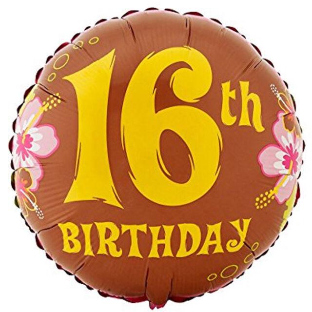 Aloha Sweet 16th Birthday Foil Happy Balloon