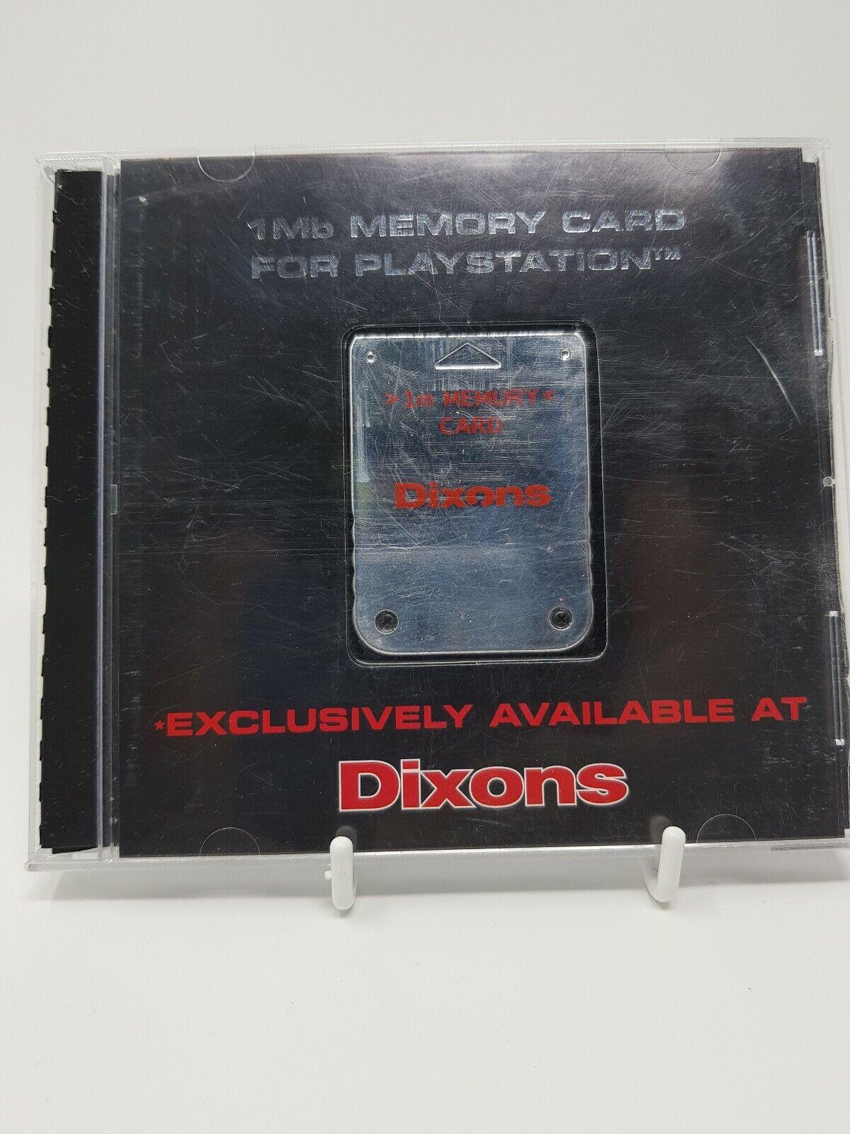 Dixons Platinum Sony PlayStation 1/PS1 1Mb Memory Card Boxed Retro GC PS2 compat