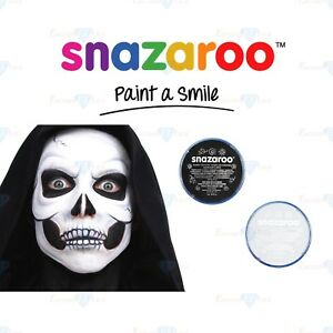 Snazaroo Skeleton Halloween Set Black White Face Body Paint