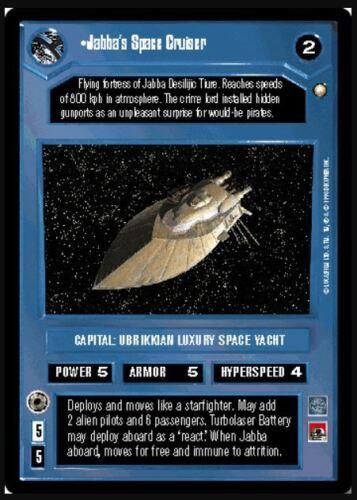 Bonus! Star Wars CCG Jabba/'s Space CruiserSpecial EditionNM//Mint