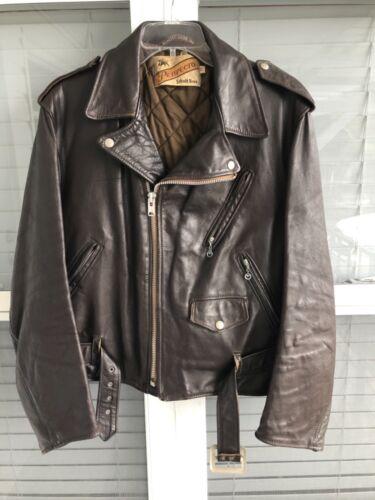 Vintage Schott Bros Perfecto Leather Motorcycle Ja