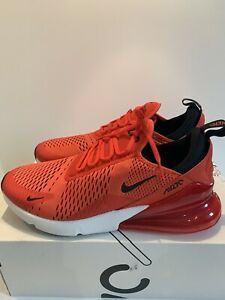 Nike Air Max 270 Habanero Red Black White Challenge Red Size ...